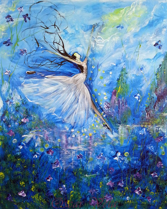 Ballet painting by Artist www.oscarvela.dk