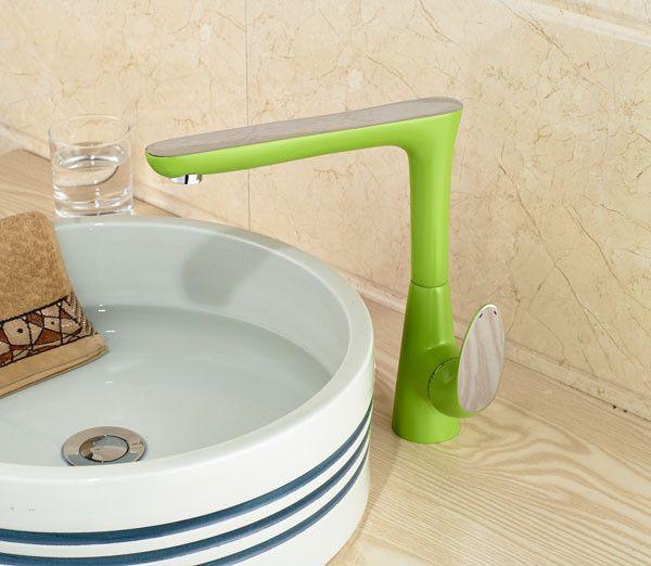 Green Color Long Spout  Bathroom Faucet Bathroom Basin Mixer Tap - ICON2 Luxury Designer Fixures  Green #Color #Long #Spout # #Bathroom #Faucet #Bathroom #Basin #Mixer #Tap
