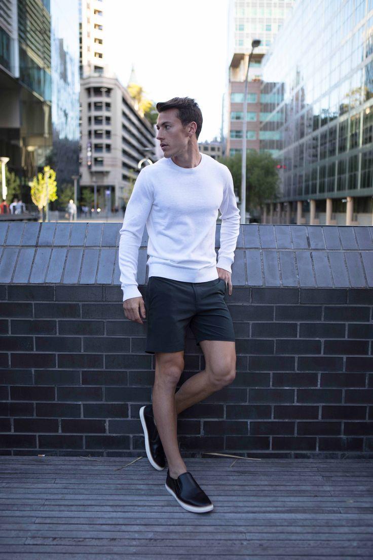 Non Stop Shorts | Cobba launch collection | Men's fashion | Men's shorts | Urban men | City life | Urban living | Gym shorts | Mid length | Everyday Shorts | Home | Manson Black | Kickstarter |