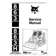 Bobcat 863, 863H Skid Steer Loader Service Manual PDF