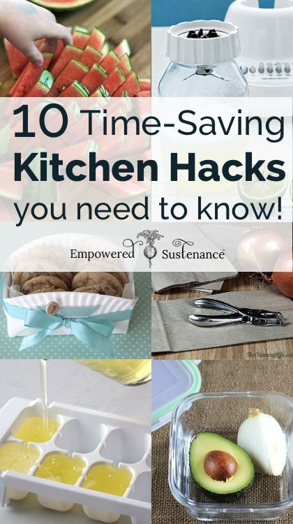 A list of brilliant kitchen hacks to save time and money in the kitchen.