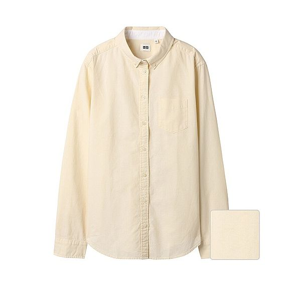 WOMEN OXFORD LONG SLEEVE SHIRT Product code: 079469 $ 29.90 Color: 40 CREAM