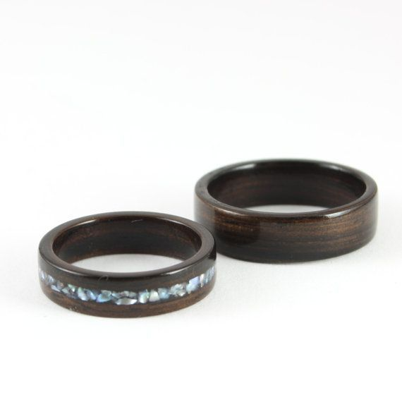 Hey, I found this really awesome Etsy listing at https://www.etsy.com/listing/154999469/ebony-wooden-wedding-ring-set-with-pearl