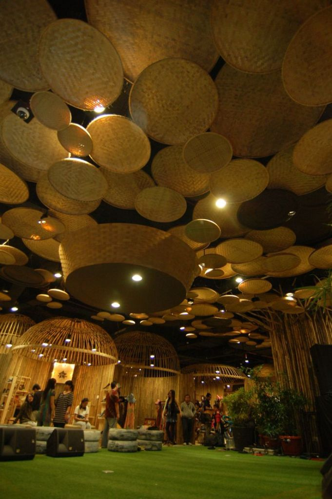 Home Interiors Beautiful Bamboo Ceiling Light Fixtures Also Panels From Lying A Fan