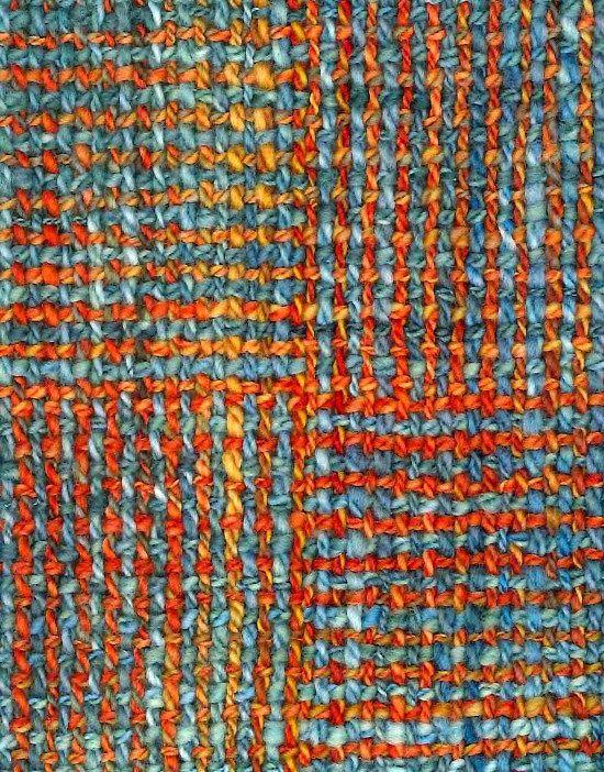 "Schacht Spindle Blog: Weathered Brick ""Log Cabin"" Scarf - Benjamin Krudwig"