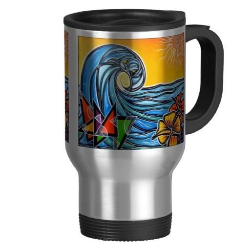 MUG: We are selling Summer Waves Travel Mug - or choose it as a coffee mug.