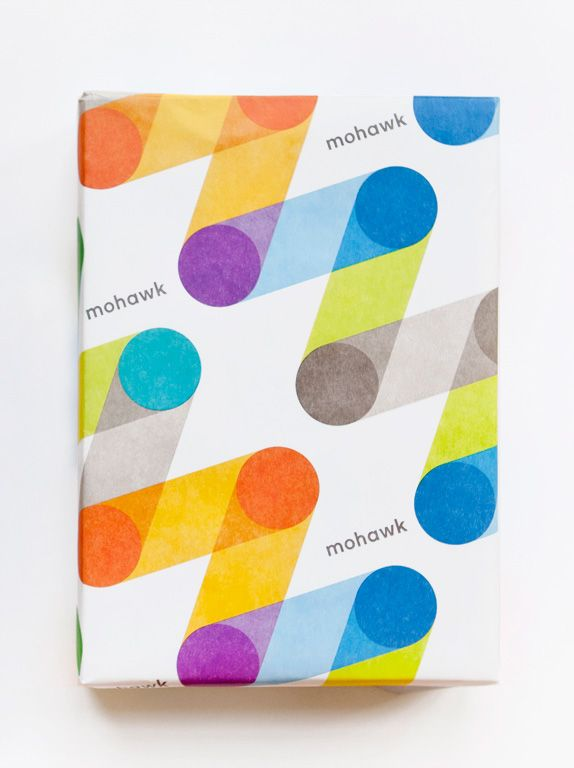 Mohawk paper wrapping and re-brand