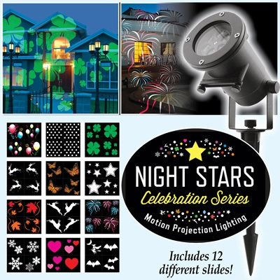 Night Stars Celebration Series Light Projector$44.95 USD #onselz