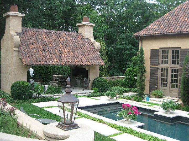 pretty landscaping and pool, mcalpine tankersley