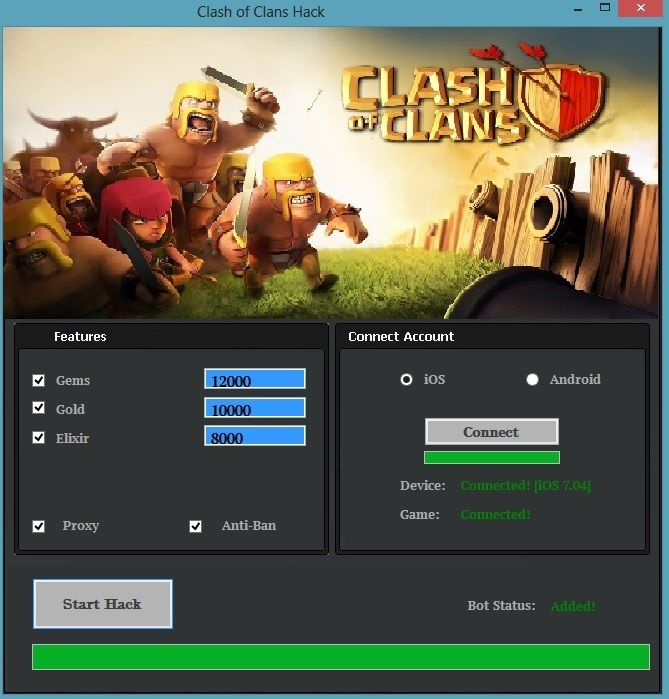 clash of clans hack data file