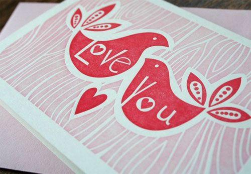 Love You Letterpress Card by Paper Parasol via Paper Crave