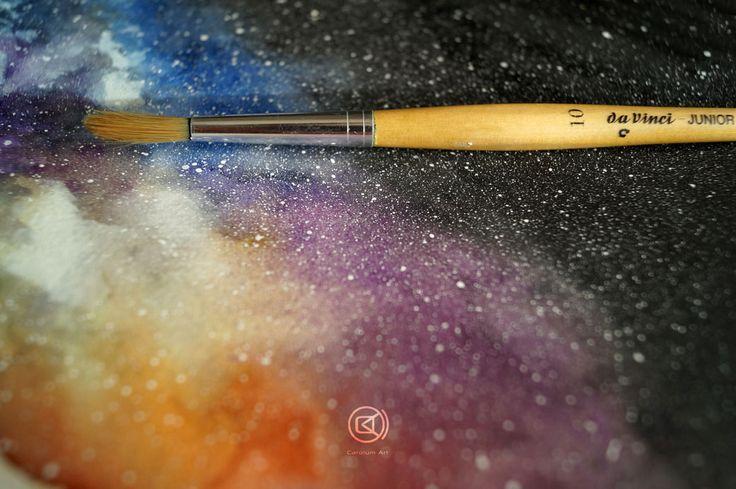 Vía Láctea | Ejercicio con acuarelas. Carolum Art Studio Blog.