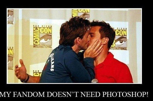 captain jack harkness, david tennant, doctor who, john barrowman, kiss, photoshop, ten