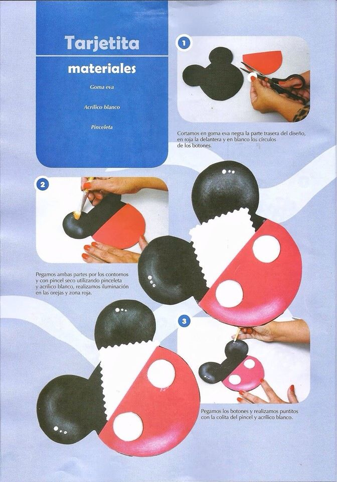 Mickey mouse envelopes and mice on pinterest - Manualidades minnie mouse ...