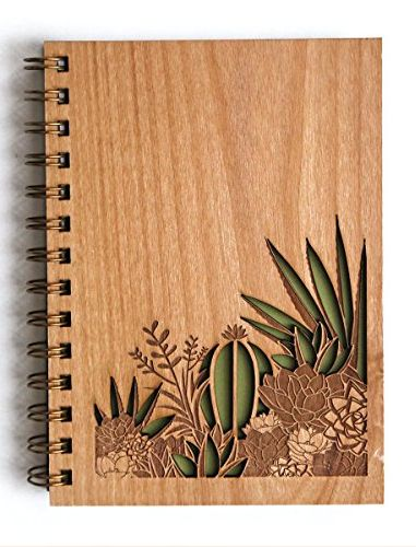 laser cut wood journal