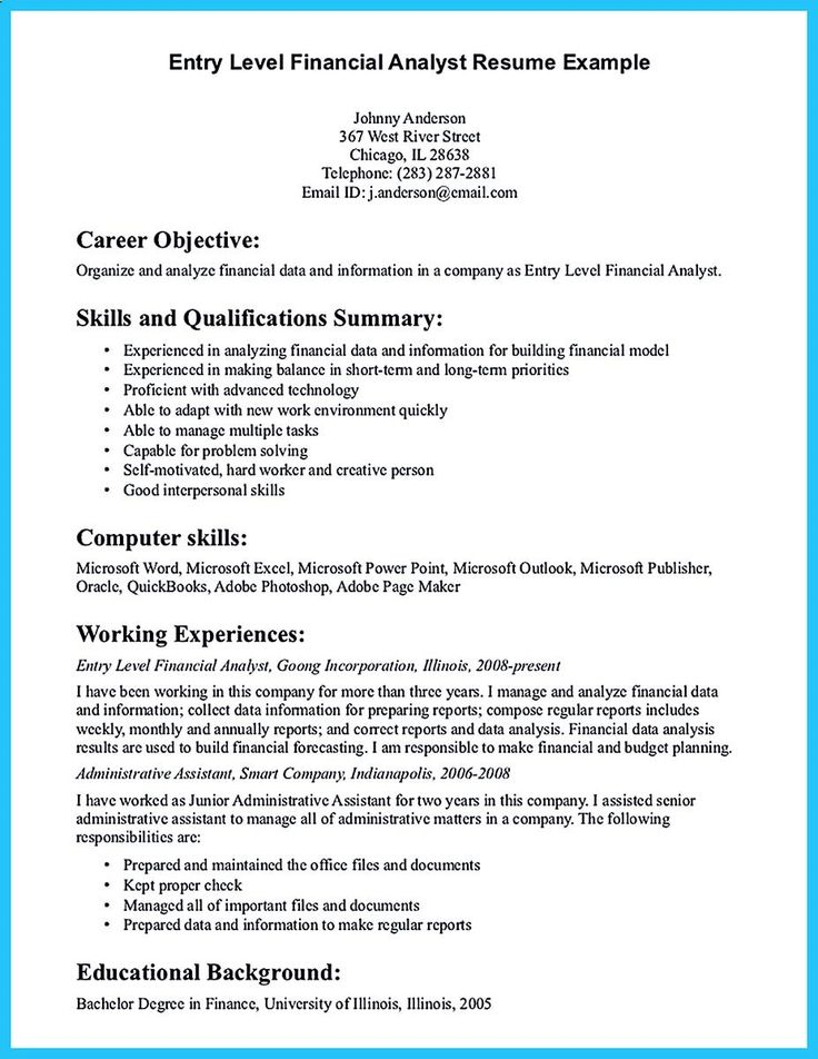 32 best Resume Example images on Pinterest Career choices - operations analyst resume