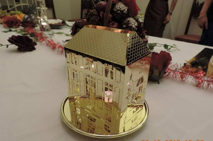 Home Decoration -  candle winter house