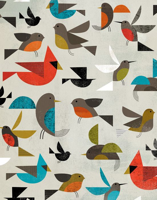 Birds by Dante Terzigni: Patterns, Illustration, Dante Terzigni, Birds, Design