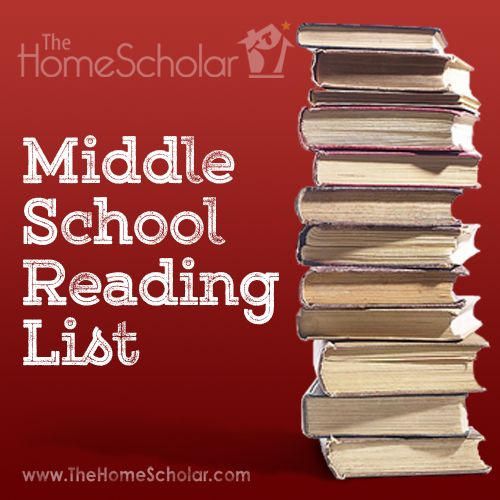 Need to know which books to include for your Middle School homeschooler's reading curriculum?  My printable reading list for Middle School can help!