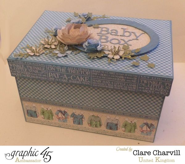 Store your beautiful baby photos in this Precious Memories Baby Box by Clare Charvill #graphic45