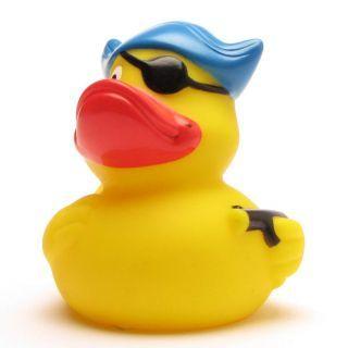 Badeente Pirat Hut Augenklappe  Rubber Duck Pirate
