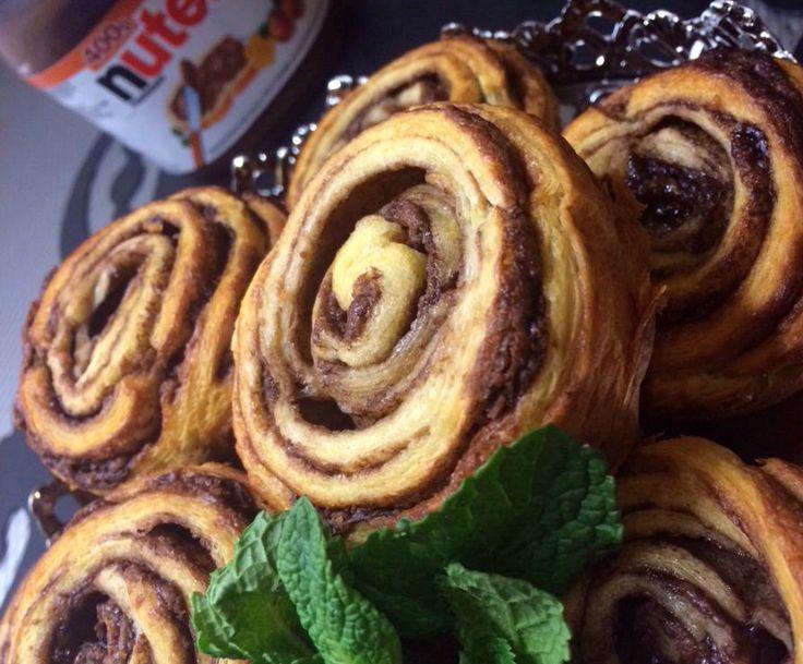 Nutella Rolls van bladerdeeg | Ramadanrecepten.nl