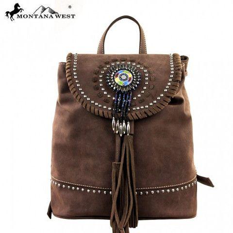 Montana West Concho Leather Backpack - Keffeler Kreations | HilltopBoutique.com - 1