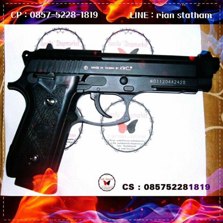 Airgun KWC Taurus PT99  Description  Hop-Up : ADJUSTABLE Weight : 1090g Length : 215 mm Capacity : 20+1 rds Power : 350-450 fps Power Source : CO2 Use: 4,5mm bb Blowback : YES Shooting Mode : Semi,  ⊙ Harga : Sms or Line  ⊙ minat? Sms : 0857-5228-1819 or Line : rian statham .. ⊙ Harga belum termasuk Ongkir. ⊙ FOR SERIOUS BUY ONLY !! ⊙ Transfer via : - BCA : a.n Olla - MANDIRI : a.n Olla  Happy shopping I`shop~ <3