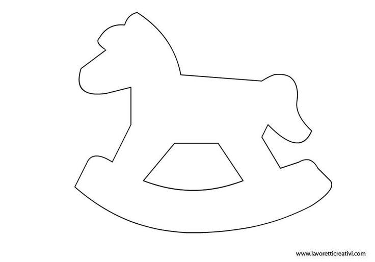 cavallo a dondolo feltro natale - Cerca con Google