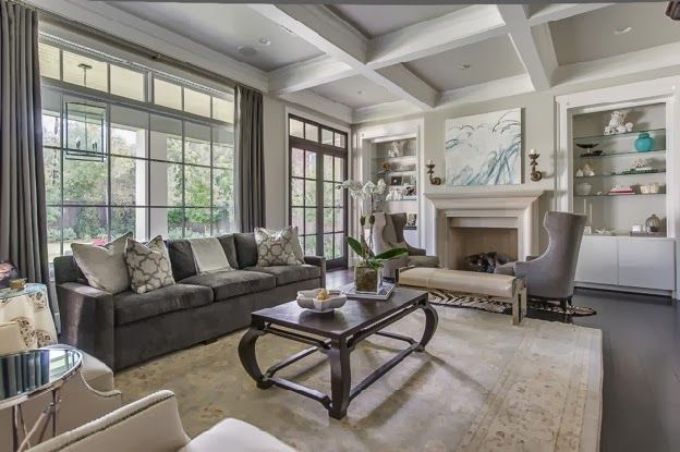 Agreeable Gray With Coffered Ceiling Trintella Living