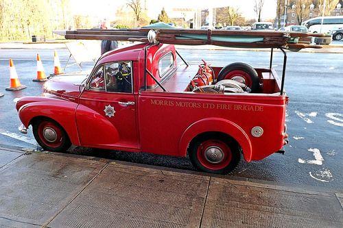 Factory Morris Minor fire tender