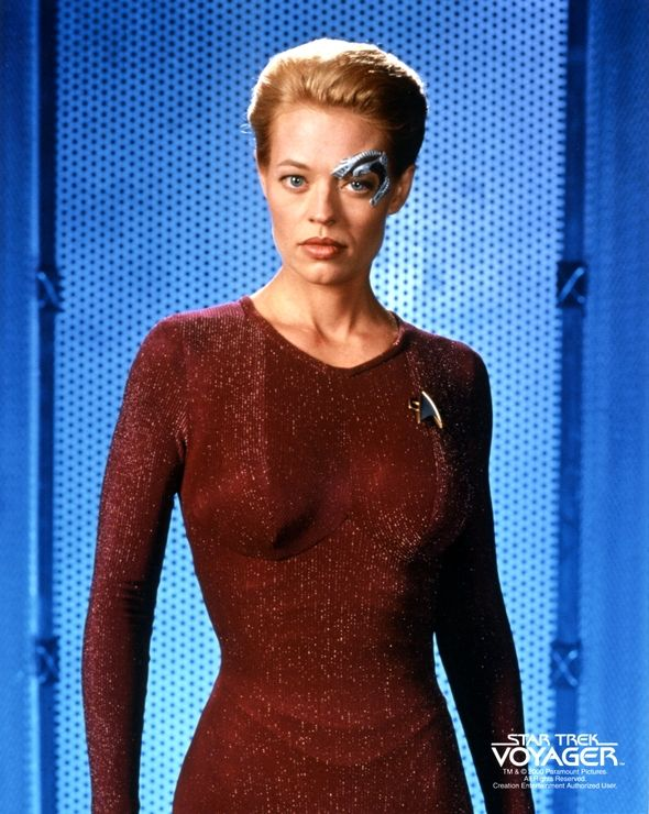"In early 2368, Seven of Nine, along with three other drones in her unimatrix, crash landed on a planet in the Delta Quadrant. The other drones, who were assimilated as adults, began to regain their identities upon being severed from the Borg Collective, but Seven was frightened as she knew nothing else but life as a drone. She forcibly linked the other drones together into a temporary collective in order to suppress their identities, and they were retrieved soon after. (VOY: ""Survival…"