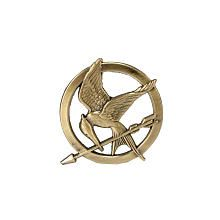 The Hunger Games Mockingjay Pin obsessed with the Hunger Games. I've been looking for this pin everywhere but it's always sold out. i rate this A.