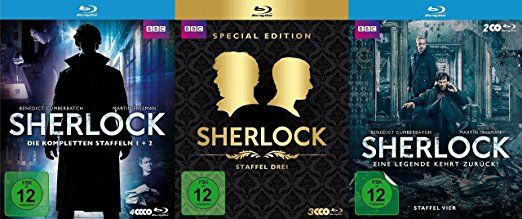 SHERLOCK Holmes - COMPLETE COLLECTION Staffel 1 2 3 4 Limited Edition 9 Blu-Ray Box