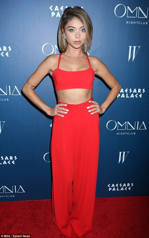 Slender: Sarah Hyland showed off her tiny waist at the second night of opening celebration...