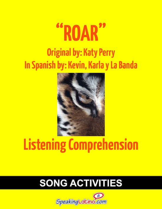 Katy Perry's Roar in Spanish: Practice Listening Comprehension | Spanish Class and Spanish Activities