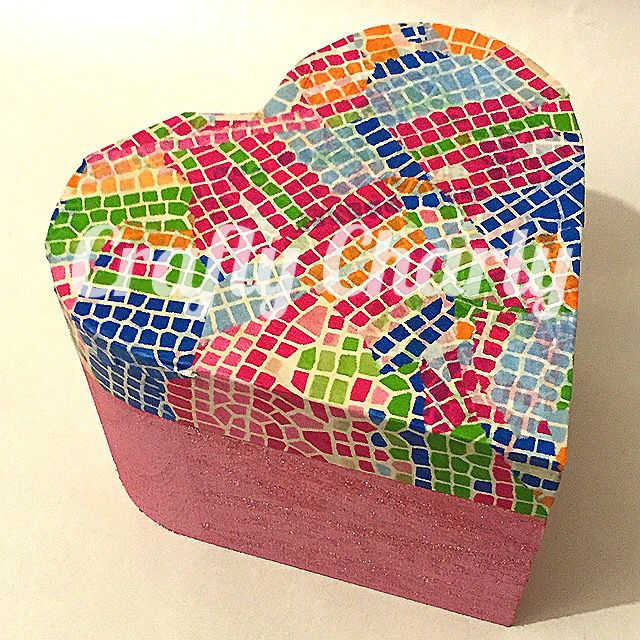 Wooden Decopatch trinket box 11x11x7cm available now from www.fb.com/craftycharly #newmakes #decoden #craftycharly #decopatch #pink #trinketbox #bright #handmade #barnsley #madeinyorkshire