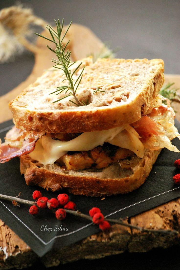 burger de navidad, hamburguesa de pollo de navidad
