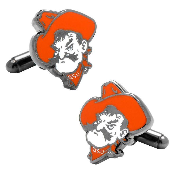 Oklahoma State University Pistol Pete Cuff Links, Men's, Orange