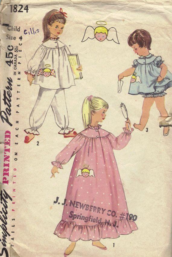 vintage girl sewing pattern oldest