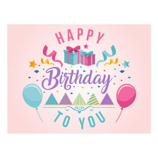 Happy Birthday Greeting Postcard