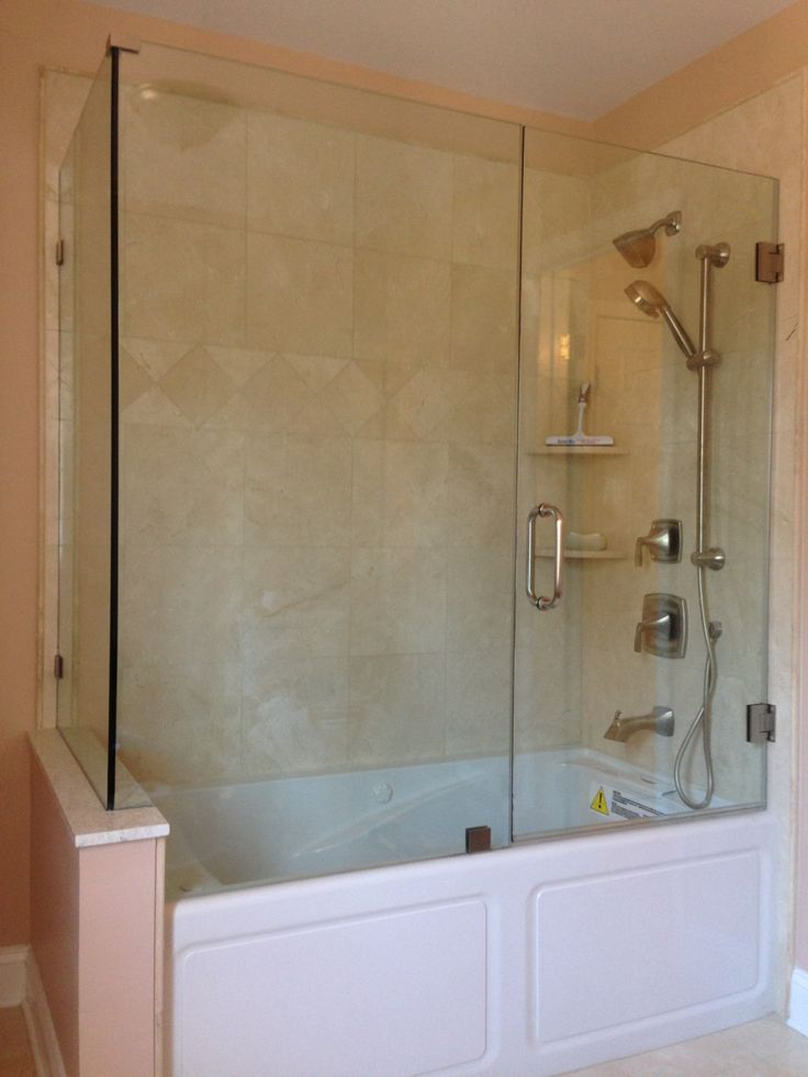 Frameless Bathtub Enclosure Glass Tub Enclosures Pinterest