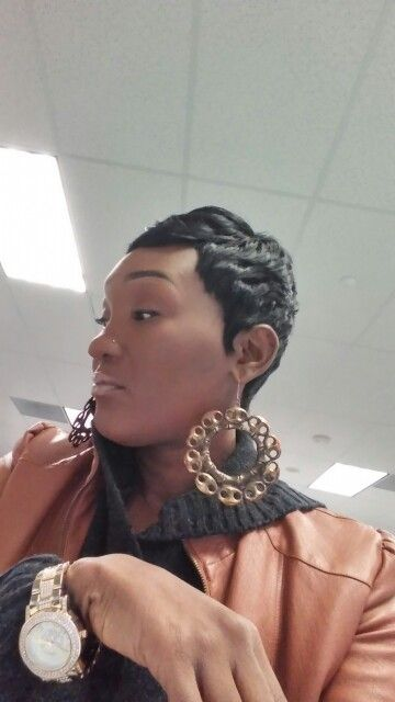Me...a cute lil wig i made.