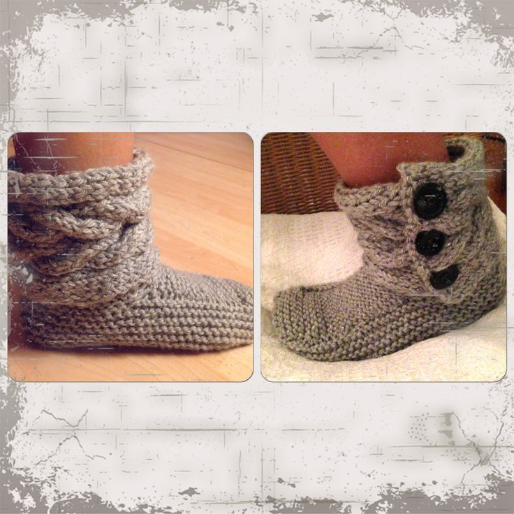 DIY. Knitted slippers:)