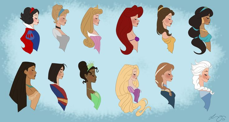 Princess Line Up from Oldest to newest. Too bad they didn't include Merida.
