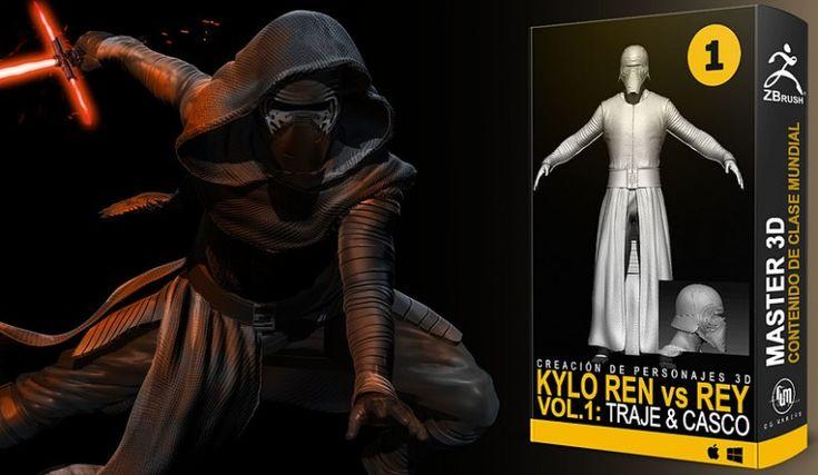 Curso del modelado 3d de Kylo Ren con Zbrush
