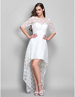 Sheath/Column Scoop Asymmetrical Lace Cocktail Dress (759820... – USD $ 99.99
