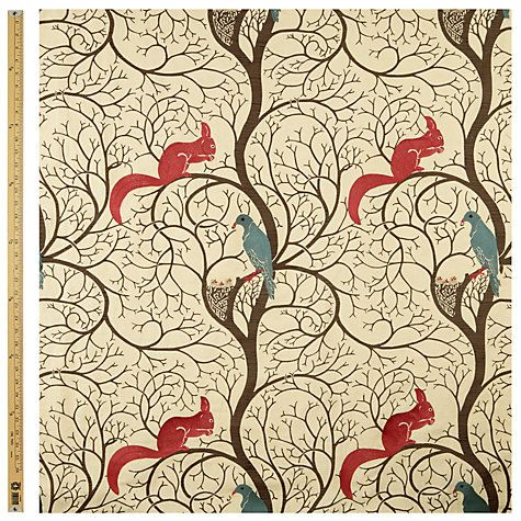 Buy Sanderson Squirrel Dove Furnishing Fabric Online at johnlewis.com