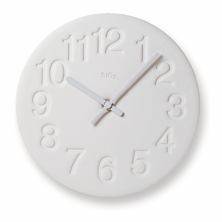 Earth Clock White By Lemnos Pictures