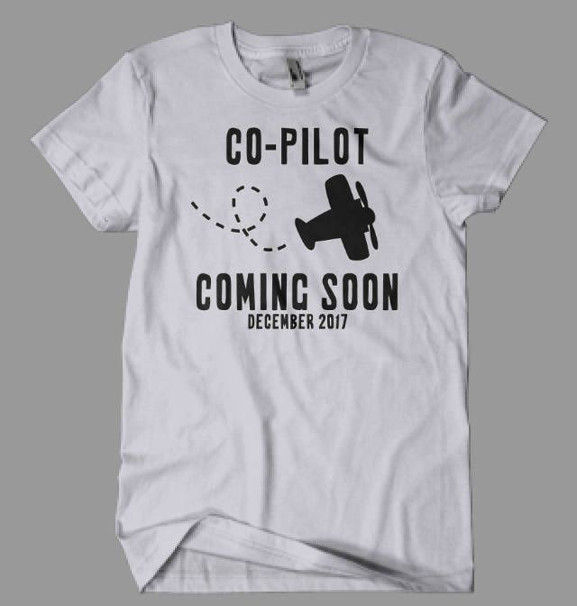 T-shirt Copilot coming soon, announces the pregnancy, shirt for boy or girl, sizes N …   – Allan